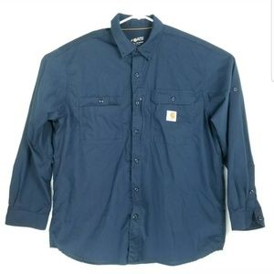 Carhartt Mens Size XL Shirt Relaxed Fit Vented